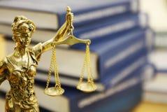 Standbeeld van Dame Justice (Justitia) Stock Foto