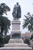 Standbeeld van Daniel Webster Stock Foto's