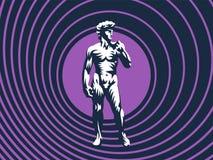 Standbeeld van David of Apollo stock illustratie