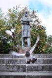 Standbeeld van de beroemde Duitse filosoof en de sociale wetenschapper Friedrich Engels op Ostozhenka-Straat, centraal Moskou, Ru Stock Foto