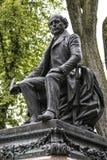 Standbeeld van de beroemde Franse historicus van Garneau in de Stad van Quebec, Canada stock afbeelding