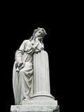 Standbeeld van de de treurige 19de eeuw het vrouwelijke begraafplaats Stock Foto