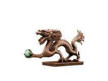 Standbeeld van de draak van Japan op wit Stock Afbeelding