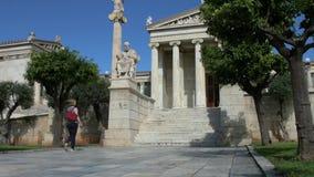 Standbeeld van de Griekse filosoof Platon stock footage