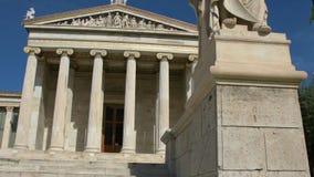 Standbeeld van de Griekse filosoof Socrates stock footage