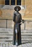 Standbeeld van de holdingsshell van Heilige Jacob in Rothenburg ob der Tauber, Royalty-vrije Stock Fotografie