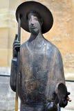 Standbeeld van de holdingsshell van Heilige Jacob in Rothenburg ob der Tauber, Stock Afbeelding