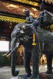 Standbeeld van de konings het berijdende olifant Royalty-vrije Stock Afbeelding