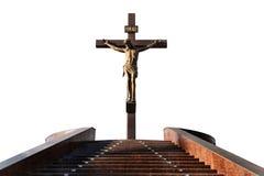 Standbeeld van de kruisiging Stock Foto's