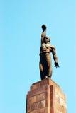Standbeeld van de mens met vuist Royalty-vrije Stock Afbeeldingen