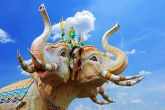 Standbeeld van de Olifanten Stock Afbeelding