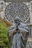 Standbeeld van de Paus Jean-Paul II van Heilige stock afbeelding