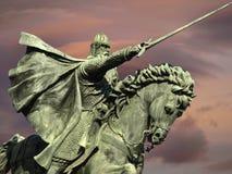 Standbeeld van de ridder Cid in Burgos Royalty-vrije Stock Foto's