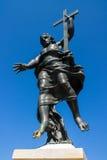 Standbeeld van de Verlosser van Jesus in Sardinige Stock Foto