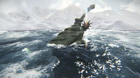 Standbeeld van de videolengte van Liberty Fallen stock illustratie