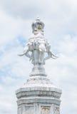 Standbeeld van de vier gezichts het witte olifant stock afbeelding