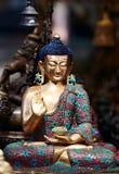 Standbeeld van de zitting van meditatieboedha op lotusbloem Royalty-vrije Stock Afbeeldingen