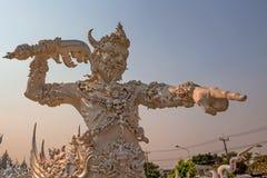 Standbeeld van demon in Aziatische mythologie stock foto's