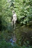 Standbeeld van duivel bij Duivelsgat, Jersey Stock Afbeeldingen