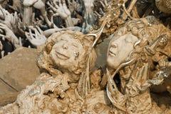 Standbeeld van duivels in hel Royalty-vrije Stock Afbeelding