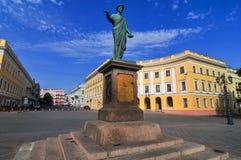 Standbeeld van Duke Richelieu - Odessa, de Oekraïne stock foto's