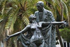 Standbeeld van Eca DE Queiros in Portugal. royalty-vrije stock afbeeldingen