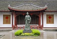 Standbeeld van een Chinese stichter van de theeaanplanting Stock Foto's