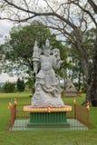 Standbeeld van een Chinese strijder bij de Boeddhistische tempel Royalty-vrije Stock Afbeeldingen