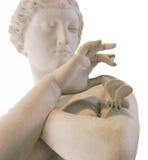 Standbeeld van een dame met een vlinder Stock Foto's