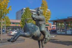 Standbeeld van een Dik Trom bij Hoofddorp-Nederland Royalty-vrije Stock Fotografie