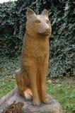 Standbeeld van een hond Royalty-vrije Stock Foto's