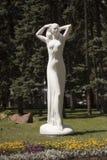 standbeeld van een monument aan de jeugd in de beste stad in de wereld in Donetsk Stock Afbeelding