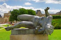 Standbeeld van een naakte vrouw, Aristide Maillol, Parijs Stock Afbeelding
