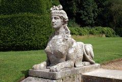 Standbeeld van een sfinx bij Blenheim-Paleistuin in Engeland royalty-vrije stock foto's
