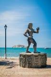 Standbeeld van een Tayrona-vrouw, Santa Marta, Colombia Royalty-vrije Stock Afbeelding