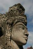 Standbeeld van een vrouwelijke Hindoese God in Klungkung - Bali stock foto's