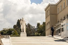 Standbeeld van Eleftherios Venizelos stock fotografie