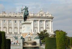 Standbeeld van Felipe IV - Madrid Royalty-vrije Stock Fotografie
