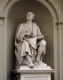 Standbeeld van Filippo Brunelleschi door Luigi Pampaloni was hij een beroemde Italiaanse Renaissancearchitect en een beeldhouwer royalty-vrije stock foto's