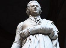 Standbeeld van filosoof, econoom en historicus Pietro Verri stock fotografie