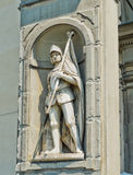 Standbeeld van Francesco Ferruccio in Galeria-degli Uffizi. Florence, Italië stock foto's