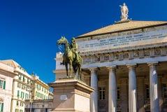 Standbeeld van Garibaldi in Genua stock afbeelding