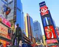 Standbeeld van George Cohan op Times Square Stock Fotografie