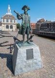 Standbeeld van George Vancouver in Lynn van de Koning, Norfolk, Engeland stock afbeelding