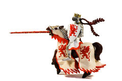 Standbeeld van gepantserde ruiterridder met lans op paard Royalty-vrije Stock Afbeelding