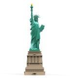 Standbeeld van geïsoleerdee Vrijheid Stock Afbeelding
