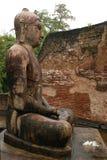 Standbeeld van Gezette Boedha in Tempel Vatadage Stock Foto