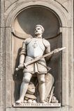 Standbeeld van Giovanni dalle Bande Nere buiten Uffizi-Galerij in Florence Royalty-vrije Stock Foto