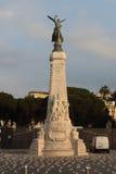 Standbeeld van godin Nike La Ville de Nice La Frankrijk in Nice, Fra Stock Afbeeldingen
