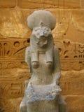 Standbeeld van godin Sekhmet. Medinet Habu, Luxor Royalty-vrije Stock Fotografie